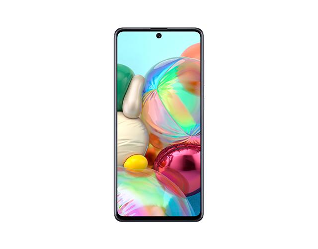 Comprar Galaxy A71 en Andorra Display 6.7-inch, Full HD + (1080 x 2400) Super AMOLED Plus, Infinity-O Display Body: 163.6 x 76.0 x 7.7mm / 179g