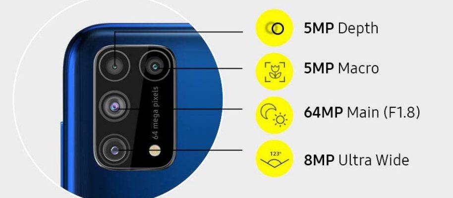 Samsung Galaxy M31 sucesor del Galaxy M30 panel AMOLED de 6,4 pulgadas con resolución Full HD+ Samsung Galaxy M31 de 6GB/128GB unos 205 euros