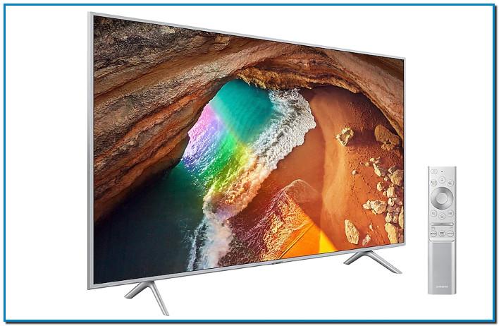 """Comprar Televisor QLED 4K 2019 163cm 65"""" SAMSUNG en ANDORRA Q64R IA Diseño Metálico"""