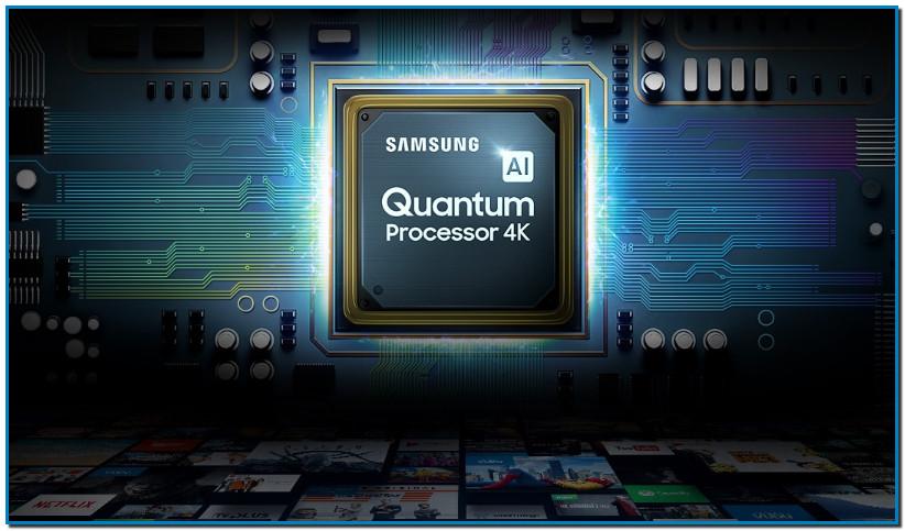 Todo gracias a un asombroso procesador Quantum Processor 4K Descubre el procesador Quantum 4K de QLED. Su exclusivo algoritmo ofrece imágenes más claras, ajusta el brillo de la pantalla y el sonido para adaptarse a tu espacio y al contenido en reproducción. Descubre la resolución mejorada gracias al nuevo procesador de los televisores.