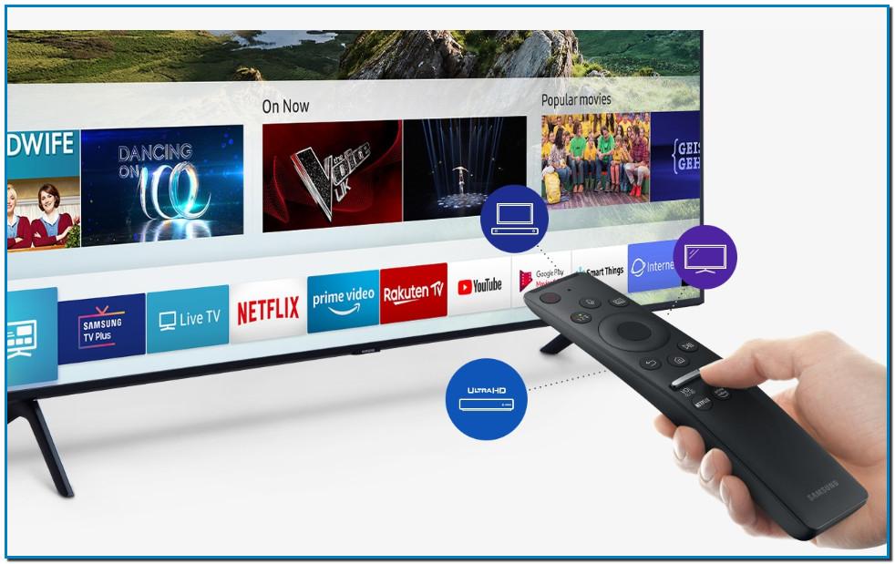 Todo es más fácil con QLED Smart TV y Premium Remote Control QLED es aún más inteligente gracias a Smart TV y al Premium Remote Control. Accede fácilmente a todo tu contenido de cualquier dispositivo, desde el descodificador hasta la consola, aplicaciones o TV en directo. Solo necesitas un único mando*.