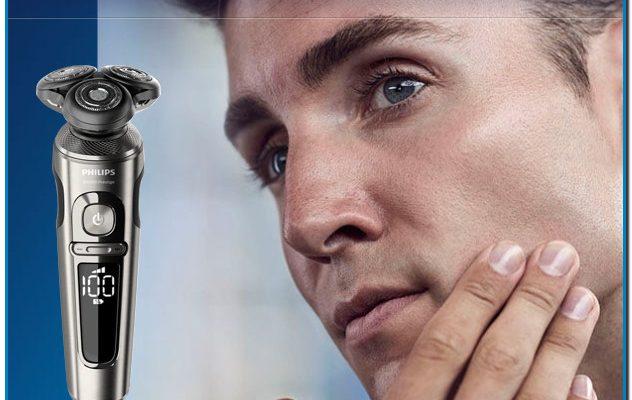 La máquina de afeitar eléctrica S9000 Prestige de Philips se ha diseñado para deslizarse suavemente sobre la piel