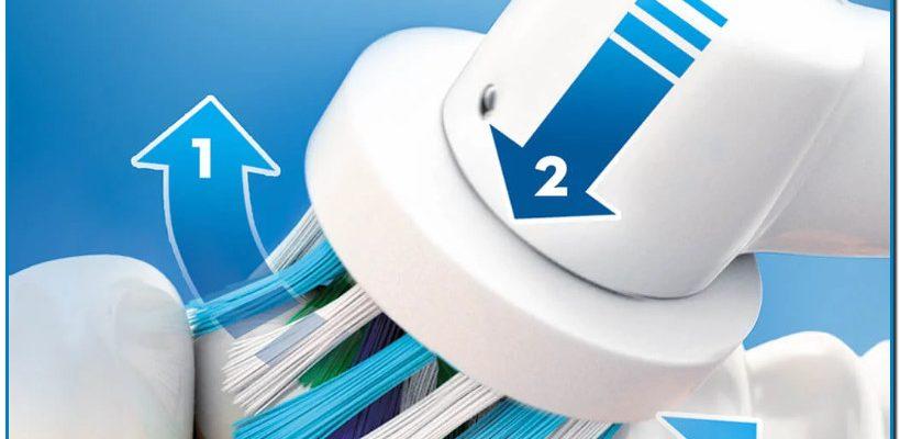 Elimina hasta un 100 % más de placa que un cepillo manual normal La acción de limpieza 3D clínicamente probada oscila, rota y emite pulsaciones para eliminar hasta un 100 % más de placa que un cepillo de dientes manual normal