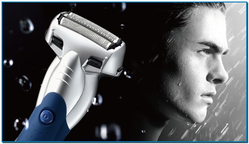ES-SL41 Las afeitadoras Panasonic Wet / Dry pueden ser utilizadas para un afeitado en mojado con espuma, incluso bajo la ducha o para un afeitado en seco.