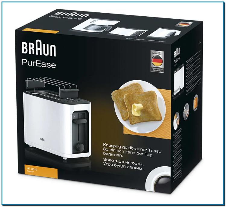Comprar Tostador PurEase HT3110 Negro al mejor precio de Andorra Referencia 0X23010008 Los tostadores Braun están diseñados para durar