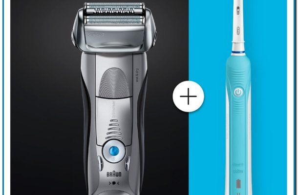 Pack - Afeitadora Braun Serie 7 7893S + Cepillo Oral B pro 500, Wet & Dry, 5 modos, Flexible,