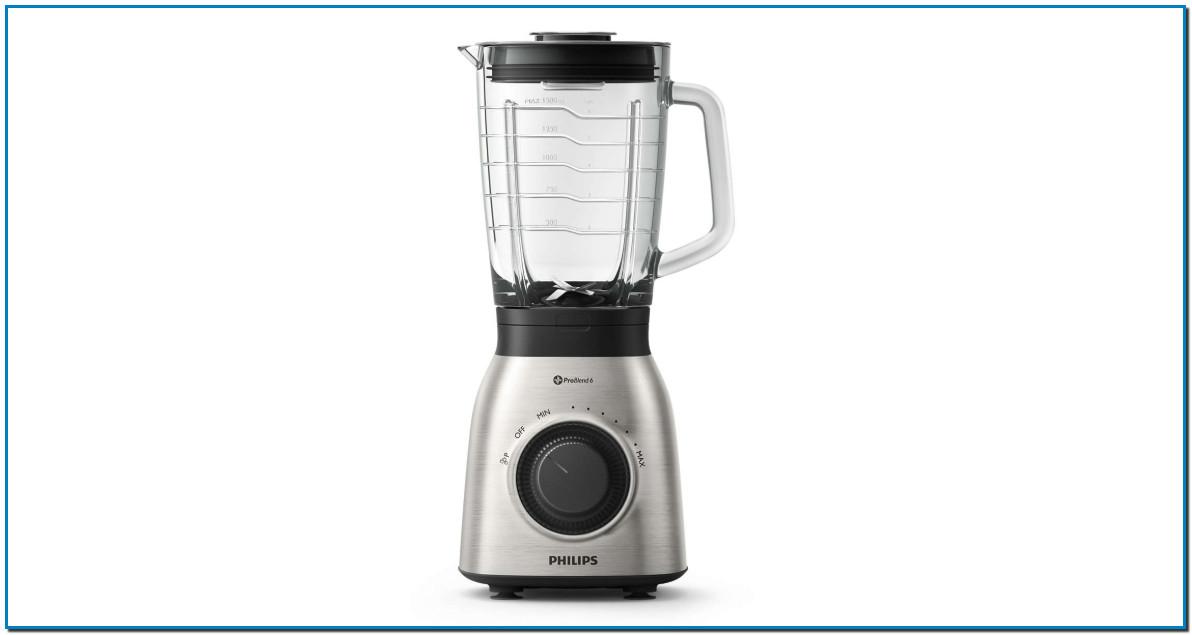 Philips Batidora de Vaso HR3555/00 900w, Capacidad 2l, 900 W, 2 litros, Vidrio, Negro, Transparente