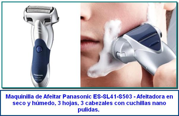 Panasonic ES-SL41-S503 - Afeitadora en seco y húmedo, 3 hojas, 3 cabezales con cuchillas nano pulidas