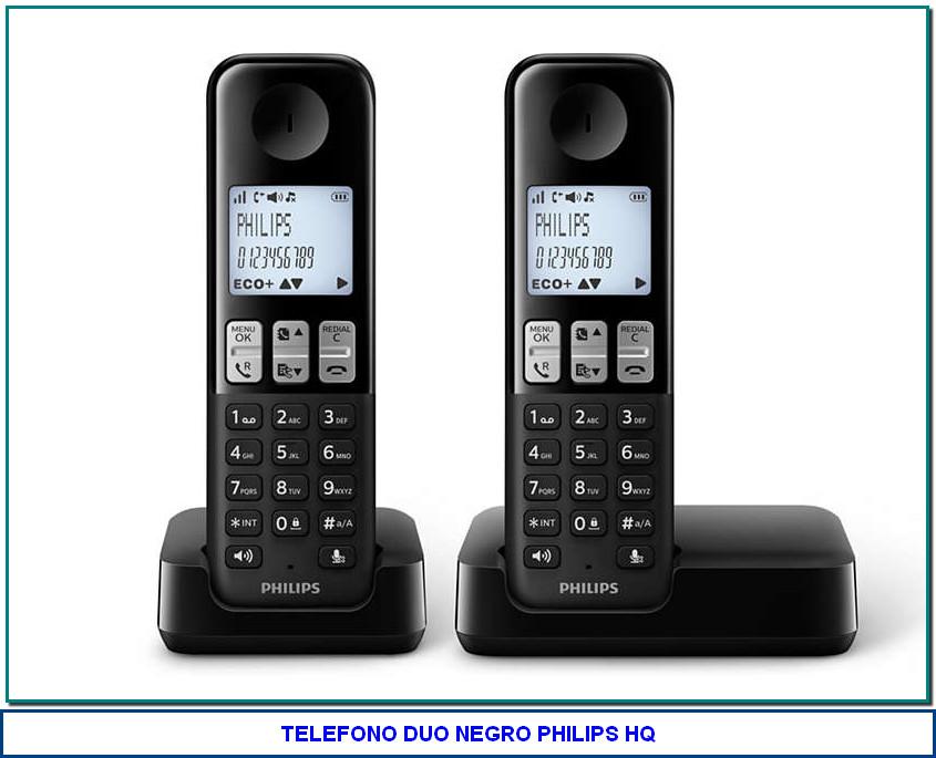 Teléfono inalámbrico D2302B/23 Disfruta de las vistas El teléfono inalámbrico D230 de Philips dispone de HQ-Sound y una pantalla grande y nítida con un diseño estilizado y ergonómico. Disfruta de modos de privacidad inteligentes, gran comodidad y un sonido fantástico, todo con un sencillo estilo manos libres.