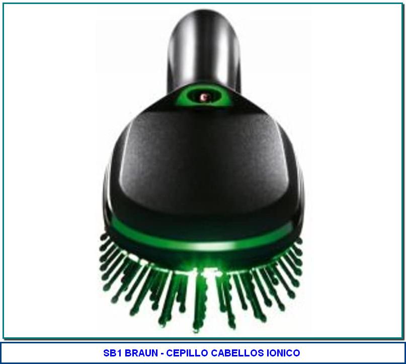Braun - Cepillo de pelo Satin Hair Brush SB1 - con tecnología iónica IONTEC de Braun 3,5 de 5 estrellas 169 valoraciones No disponible. Tecnología iónica para conseguir un cabello brillante de salud Púas sin junturas para no dañar el cabello Cabezal extraíble para una limpieza sencilla Formato bolsillo para llevarlo a cualquier lado 2 pilas Duracell incluidas
