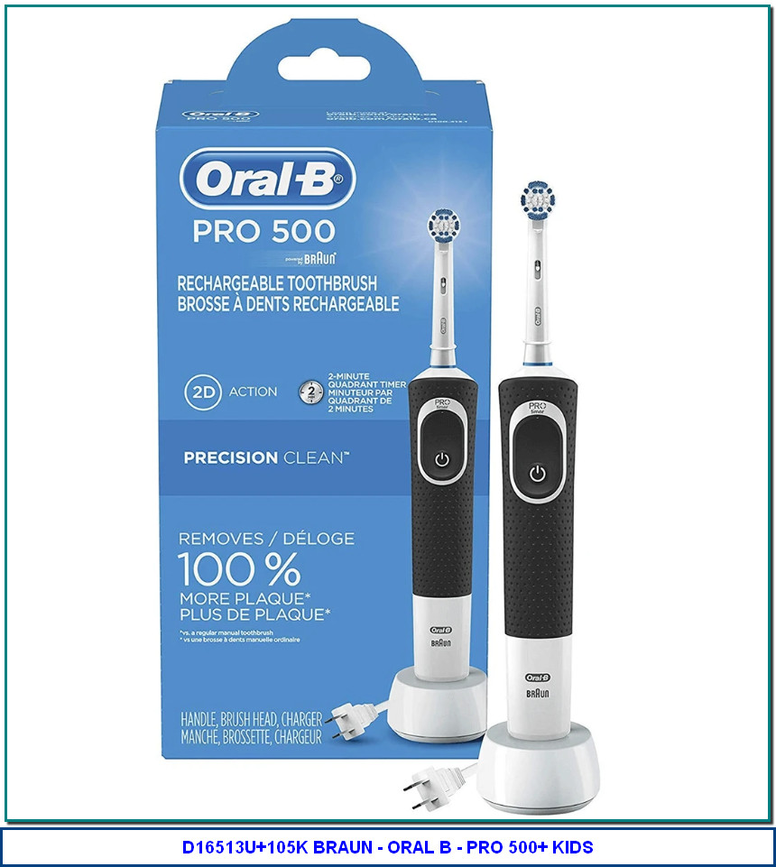 ORAL-B PRO 500 CROSS ACTION ELECTRIC RECHARGEABLE TOOTHBRUSH